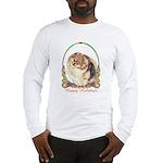 Pomeranian Pom Holiday Long Sleeve T-Shirt