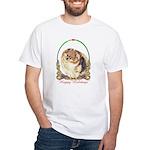 Pomeranian Pom Holiday White T-Shirt
