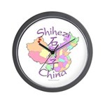Shihezi China Map Wall Clock