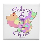 Shihezi China Map Tile Coaster