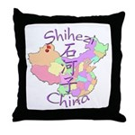 Shihezi China Map Throw Pillow