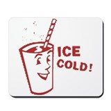 Red - Ice Cold Big Cup Mousepad