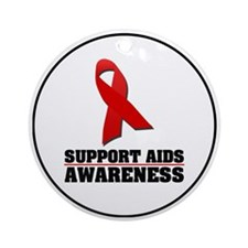 AIDS Awareness Ornament (Round)