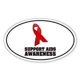 AIDS Awareness Oval Decal