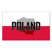 Flag of Poland Extra Rectangle Stickers