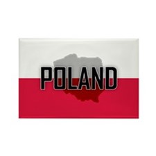 Flag of Poland Extra Rectangle Magnet