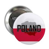 "Flag of Poland Extra 2.25"" Button"