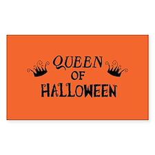 Queen of Halloween Rectangle Decal