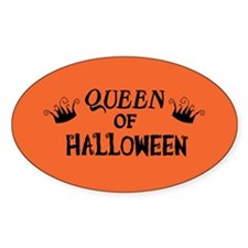 Queen of Halloween Oval Decal