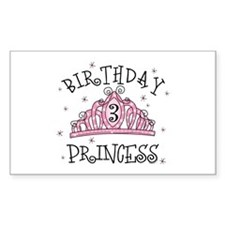 Tiara Birthday Princess 3rd Rectangle Decal