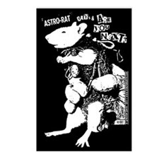 Astro Rat Postcards (Package of 8)