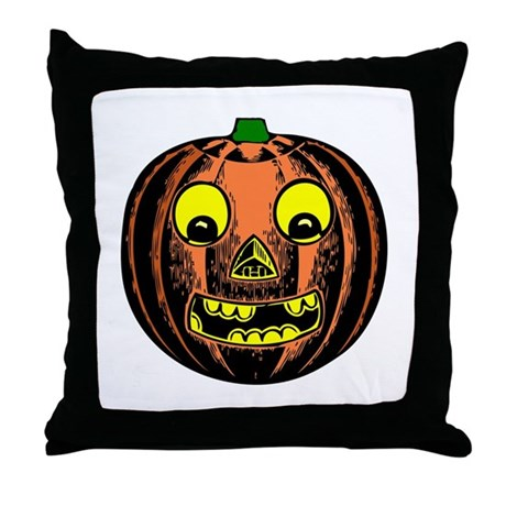 Vintage Jack-O-Lantern Throw Pillow