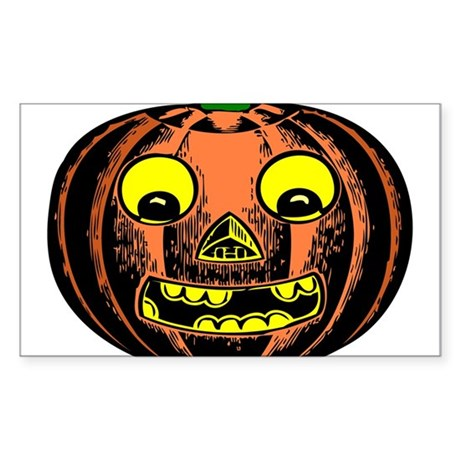 Vintage Jack-O-Lantern Rectangle Sticker
