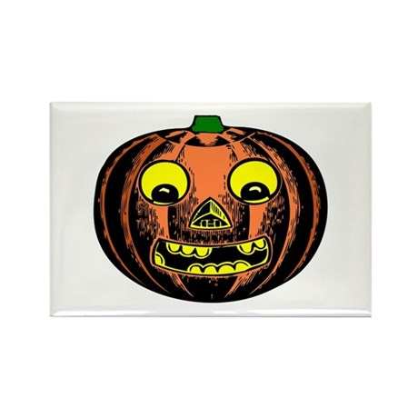 Vintage Jack-O-Lantern Rectangle Magnet