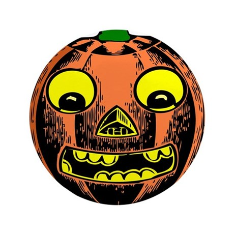 "Vintage Jack-O-Lantern 3.5"" Button (100 pack)"