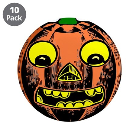 "Vintage Jack-O-Lantern 3.5"" Button (10 pack)"