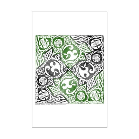 Celtic Puzzle Square Mini Poster Print
