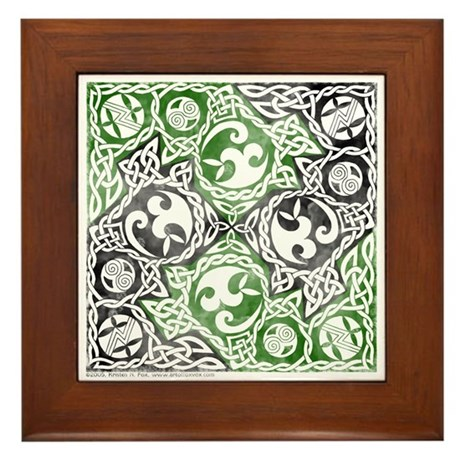 Celtic Puzzle Square Framed Tile