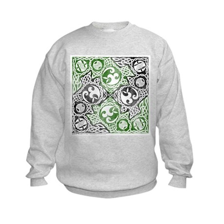 Celtic Puzzle Square Kids Sweatshirt