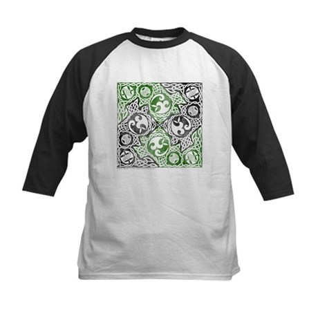 Celtic Puzzle Square Kids Baseball Jersey