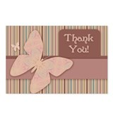 Butterfly Thank You Postcards (Package of 8)