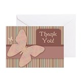 Butterfly Thank You Greeting Cards (Pk of 20)