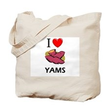 I Love Yams Tote Bag