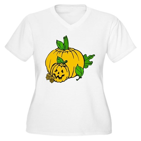 Jack 0 Lantern Women's Plus Size V-Neck T-Shirt
