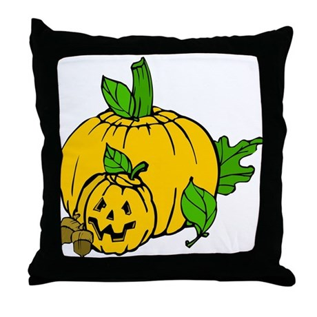 Jack 0 Lantern Throw Pillow