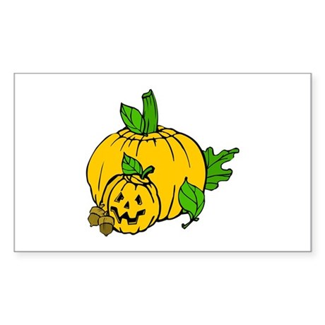 Jack 0 Lantern Rectangle Sticker 10 pk)