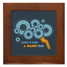 Save it For a Rainy Day Framed Tile