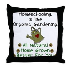 Funny Homeschooling Throw Pillow