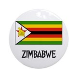 Zimbabwe Flag Ornament (Round)