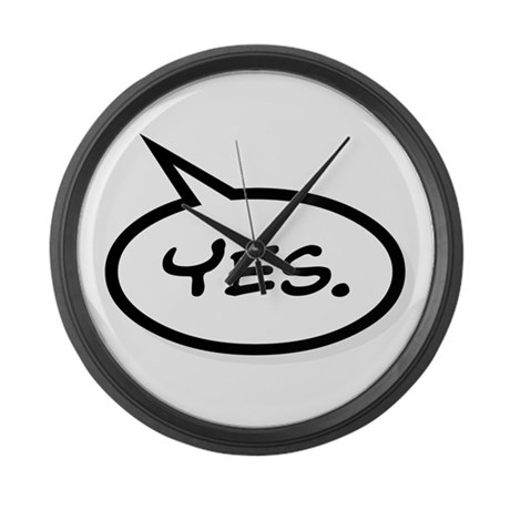 YES COMIC TALK BALLOON Large Wall Clock