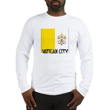 Vatican City Flag Long Sleeve T-Shirt