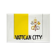 Vatican City Flag Rectangle Magnet (10 pack)