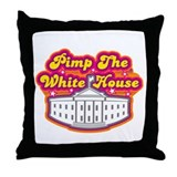 Pimp The White house Retro Throw Pillow