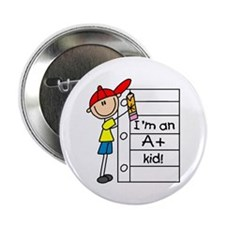 """A Plus Kid 2.25"""" Button (100 pack)"""