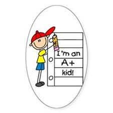 A Plus Kid Oval Decal