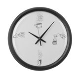 Tea Time Large Wall Clock