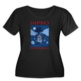 Hippo Posthumous Women's Plus Size Scoop Neck Dark