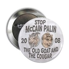 "Old Goat McCain Cougar Palin 2.25"" Button"