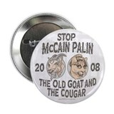 "Old Goat McCain Cougar Palin 2.25"" Button (10 pack"