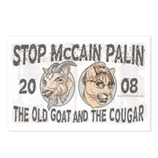 Old Goat McCain Cougar Palin Postcards (Package of