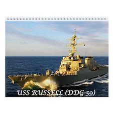 USS RUSSELL (DDG-59) 12 Month Wall Calendar
