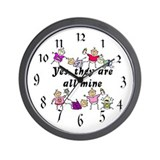 All Mine (8 Kids) Wall Clock