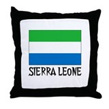 Sierra Leone Flag Throw Pillow