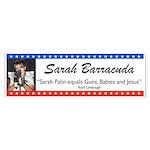 Sarah Palin Barracuda Rush Quote Bumper Sticker
