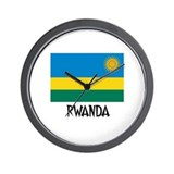 Rwanda Flag Wall Clock