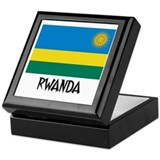 Rwanda Flag Keepsake Box